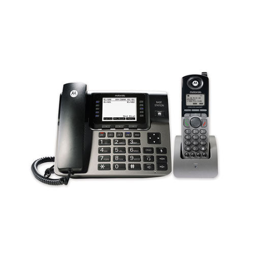 Ml1250 1-4 Line Corded-cordless Phone System, 1 Handset, Black-silver