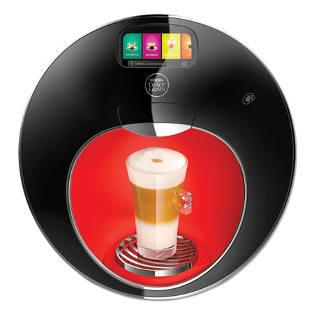 Majesto Automatic Coffee Machine, Black-red