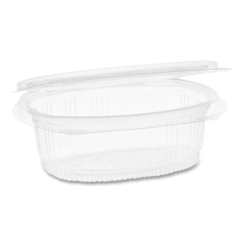 Earthchoice Pet Hinged Lid Deli Container, 4.92 X 5.87 X 1.89, 12 Oz, 1-compartment, Clear, 200-carton