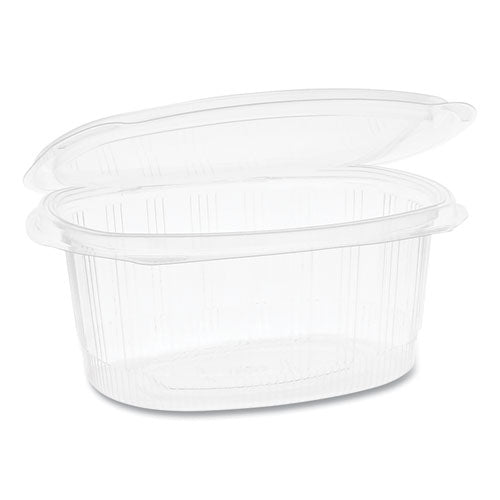 Earthchoice Pet Hinged Lid Deli Containers, 8.88 X 7.25 X 2.94, 48 Oz,  1-compartment, Clear, 190-carton