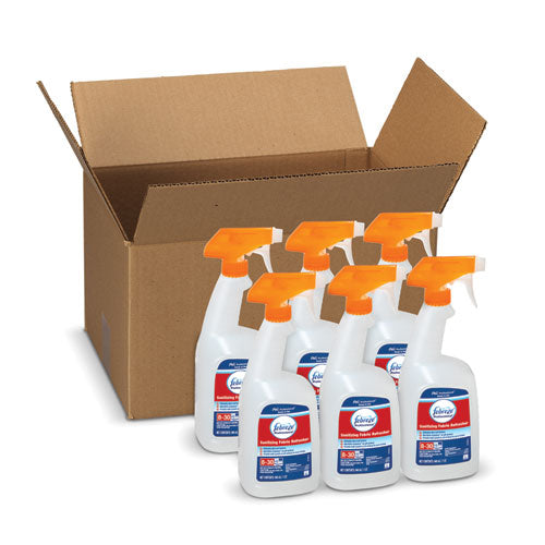 Professional Sanitizing Fabric Refresher, Light Scent, 32 Oz Spray, 6-carton