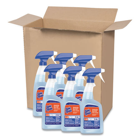 Disinfecting All-purpose Spray And Glass Cleaner, 32 Oz Spray Bottle, 6-carton