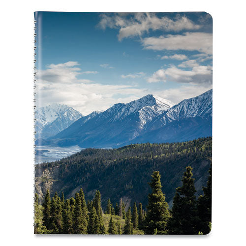 Mountains Weekly Appointment Book, 11 X 8.5, Blue-green-black, 2021