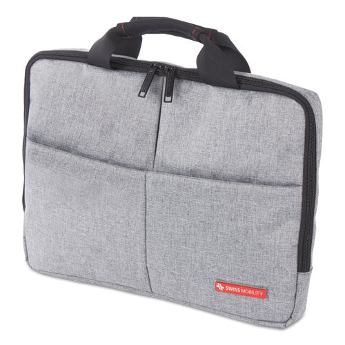 """Sterling Slim Briefcase, Holds Laptops 14.1"""", 1.75"""" X 1.75"""" X 10.25"""", Gray"""