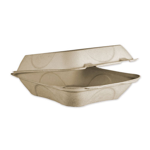 Fiber Hinged Containers, 8 X 8 X 3, Natural, 300-carton