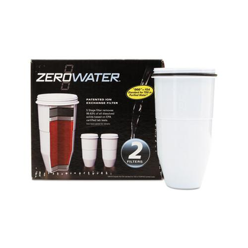 Zerowater Replacement Filtering Bottle Filter, 2-pack