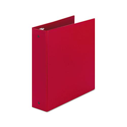 "Economy Non-view Binder With Round Rings, 3 Rings, 2"" Capacity, 11 X 8.5, Red, (3510)"