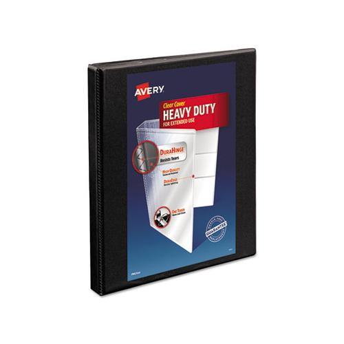 "Heavy-duty Non Stick View Binder With Durahinge And Slant Rings, 3 Rings, 0.5"" Capacity, 11 X 8.5, Black, (5233)"