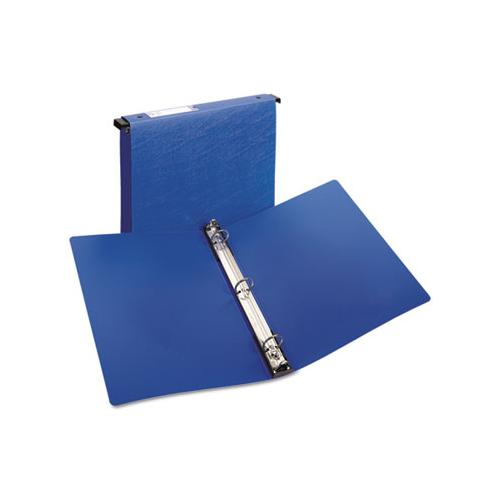 "Hanging Storage Flexible Non-view Binder With Round Rings, 3 Rings, 1"" Capacity, 11 X 8.5, Blue"