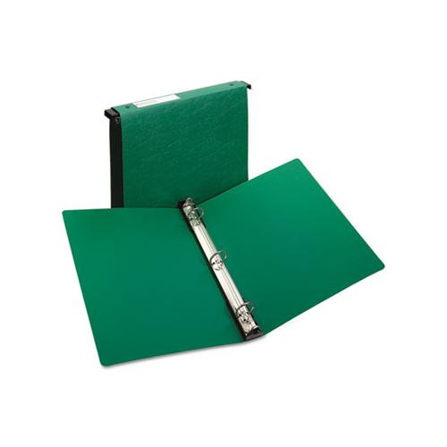 "Hanging Storage Flexible Non-view Binder With Round Rings, 3 Rings, 1"" Capacity, 11 X 8.5, Green"