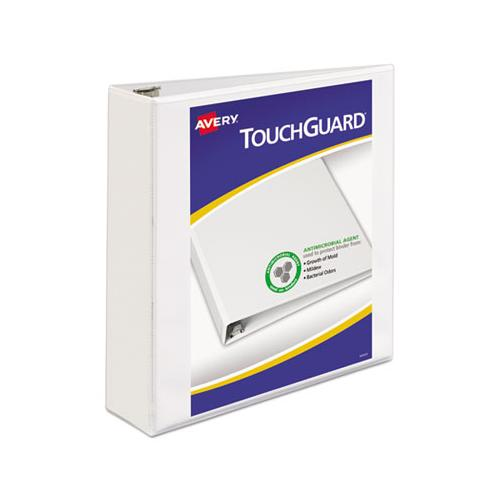 "Touchguard Protection Heavy-duty View Binders With Slant Rings, 3 Rings, 2"" Capacity, 11 X 8.5, White"