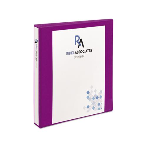 "Durable View Binder With Durahinge And Slant Rings, 3 Rings, 1"" Capacity, 11 X 8.5, Purple"