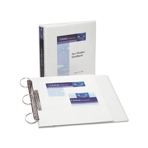 "Flip Back 360° Durable View Binder With Round Rings, 3 Rings, 1.5"" Capacity, 11 X 8.5, White"