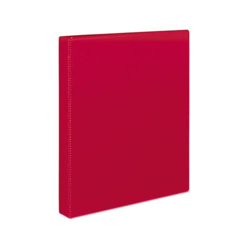 "Durable Non-view Binder With Durahinge And Slant Rings, 3 Rings, 1"" Capacity, 11 X 8.5, Red"