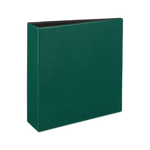 "Durable Non-view Binder With Durahinge And Slant Rings, 3 Rings, 3"" Capacity, 11 X 8.5, Green"