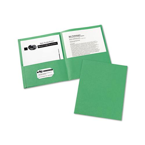Two-pocket Folder, 40-sheet Capacity, Green, 25-box