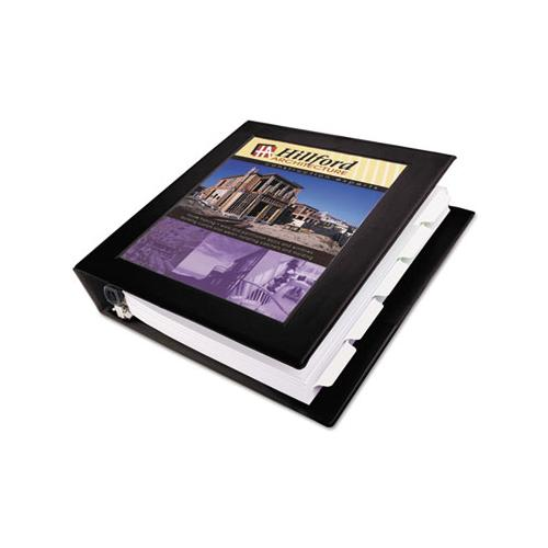 "Framed View Heavy-duty Binders, 3 Rings, 1.5"" Capacity, 11 X 8.5, Black"
