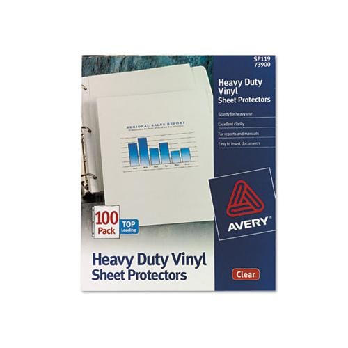 Top-load Vinyl Sheet Protectors, Heavy Gauge, Letter, Clear, 100-box