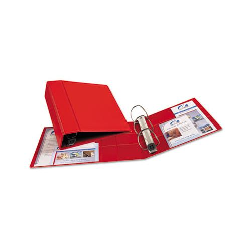 "Heavy-duty Non-view Binder With Durahinge And Locking One Touch Ezd Rings, 3 Rings, 4"" Capacity, 11 X 8.5, Red"