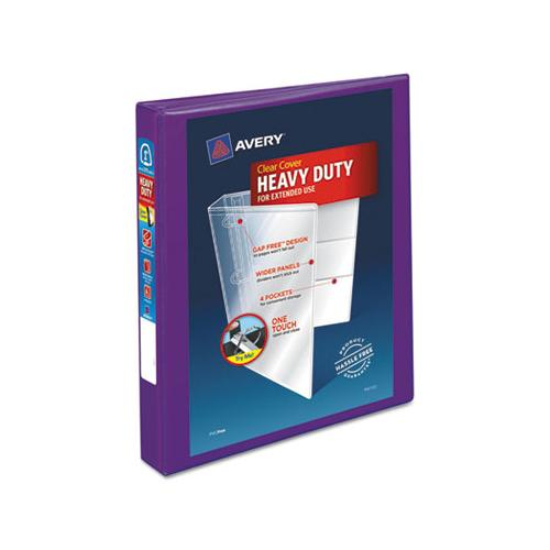 "Heavy-duty View Binder With Durahinge And One Touch Ezd Rings, 3 Rings, 1"" Capacity, 11 X 8.5, Purple"