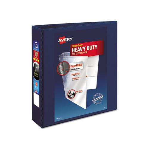 "Heavy-duty View Binder With Durahinge And One Touch Ezd Rings, 3 Rings, 2"" Capacity, 11 X 8.5, Navy Blue"