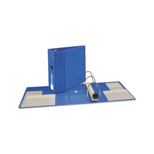 "Heavy-duty Non-view Binder With Durahinge, Locking One Touch Ezd Rings And Thumb Notch, 3 Rings, 5"" Capacity, 11 X 8.5, Blue"