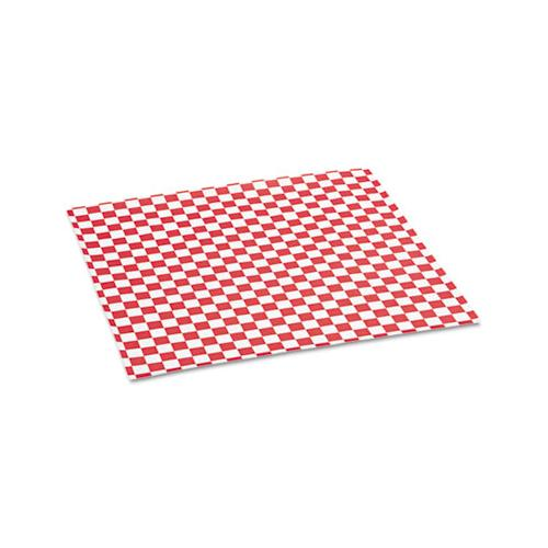 Grease-resistant Paper Wraps And Liners, 12 X 12, Red Check, 1000-box, 5 Boxes-carton