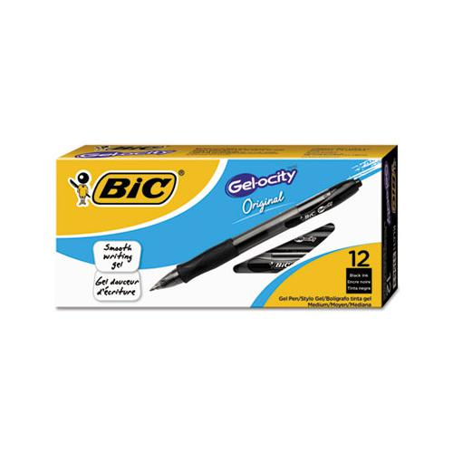 Gel-ocity Retractable Gel Pen, 0.7 Mm, Black Ink, Translucent Black Barrel, Dozen