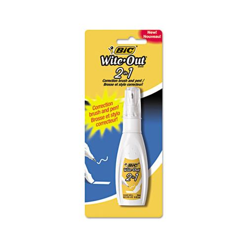 Wite-out 2-in-1 Correction Fluid, 15 Ml Bottle, White