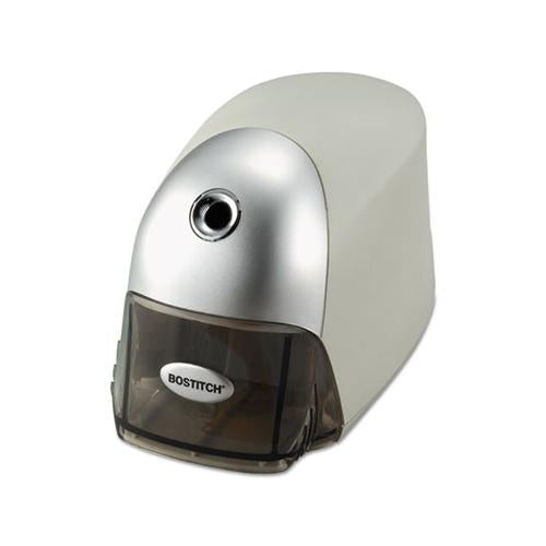 "Quietsharp Executive Electric Pencil Sharpener, Ac-powered, 4"" X 7.5"" X 5"", Gray"