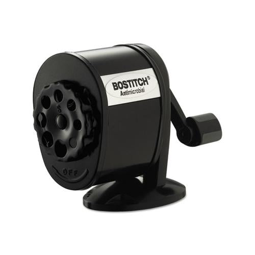 "Antimicrobial Manual Pencil Sharpener, Manual, 5.44"" X 2.69"" X 4.33"", Black"