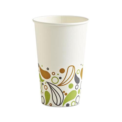 Deerfield Printed Paper Hot Cups, 16 Oz, 20 Cups-sleeve, 50 Sleeves-carton
