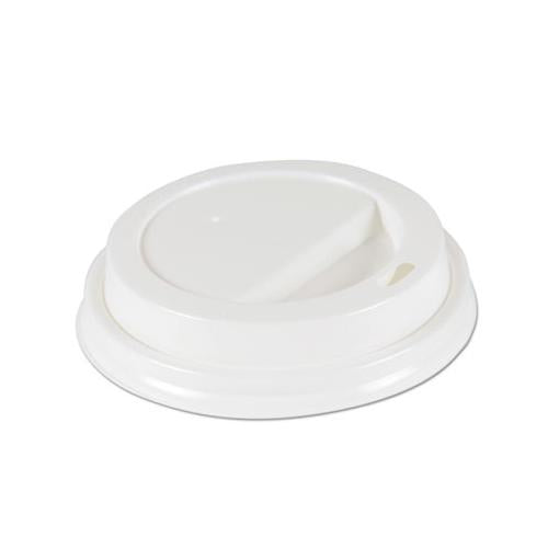 Deerfield Hot Cup Lids For 10oz - 20oz Cups, White, Plastic, 50-pk, 20 Pk-carton