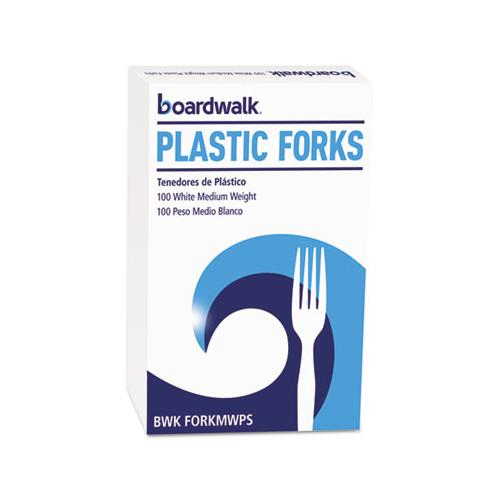 Mediumweight Polystyrene, Fork, White, 10 Boxes Of 100-carton