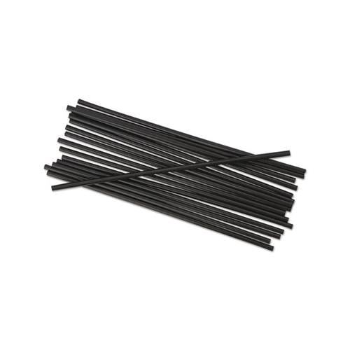 "Single-tube Stir-straws, 5 1-4"", Black, 1000-pack"