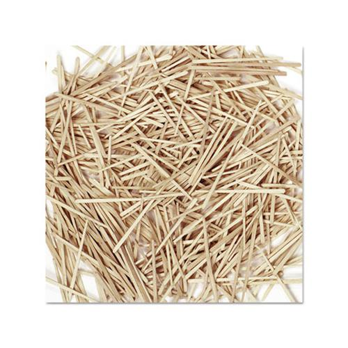 Flat Wood Toothpicks, Wood, Natural, 2,500-pack