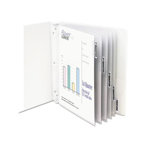 "Sheet Protectors With Index Tabs, Heavy, Clear Tabs, 2"", 11 X 8 1-2, 5-st"
