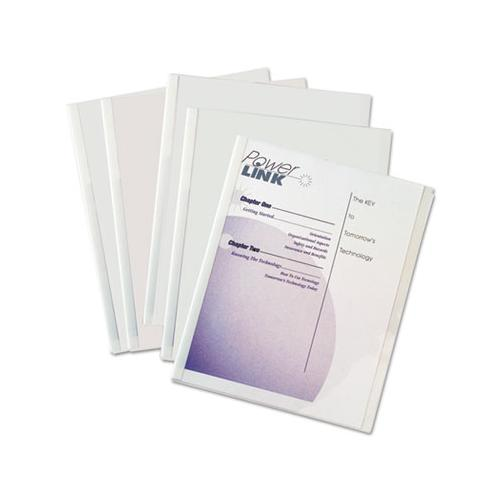 Report Covers With Binding Bars, Economy Vinyl, Clear, 8 1-2 X 11, 50-bx