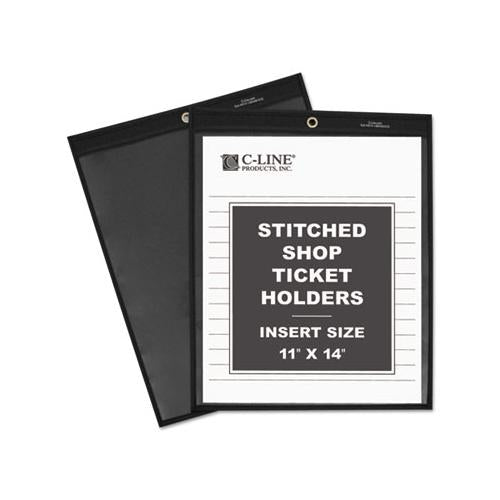 Shop Ticket Holders, Stitched, One Side Clear, 75 Sheets, 11 X 14, 25-bx