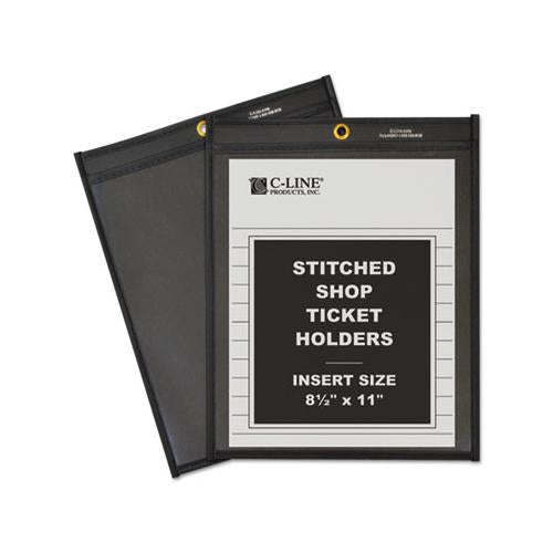 Shop Ticket Holders, Stitched, One Side Clear, 50 Sheets, 8 1-2 X 11, 25-box