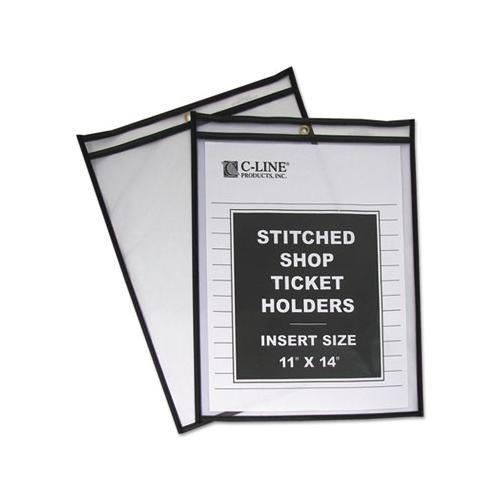 Shop Ticket Holders, Stitched, Both Sides Clear, 75 Sheets, 11 X 14, 25-box