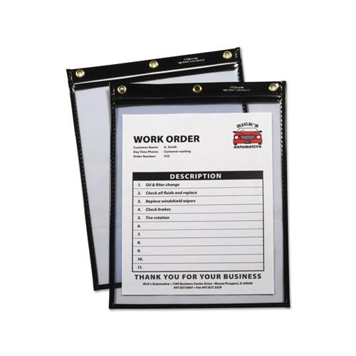 Heavy-duty Super Heavyweight Plus Stitched Shop Ticket Holders, Black, 9x12,15-bx