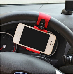 Universal Car Steering Wheel Phone Mount Holder Clip Buckle Socket