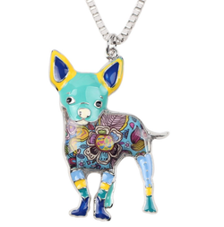 A wonderful collection of necklaces dogs with beautiful colors