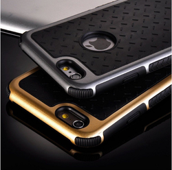 Ultra Thin Shockproof Rubber PC and TPU Hybrid Phone Case Cover For Apple