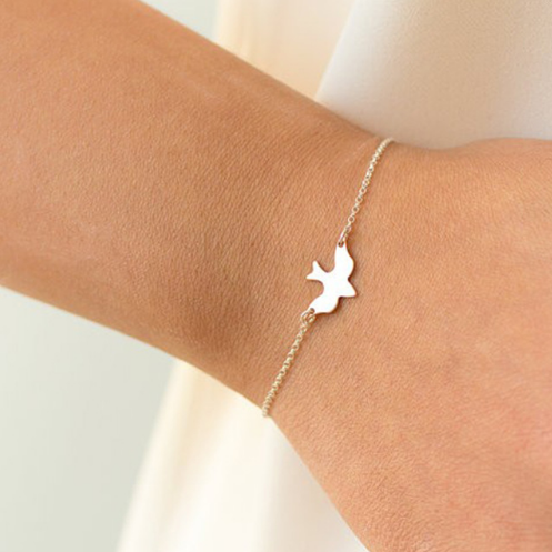 Tiny Peace Dove Bracelet Birds Bracelet Little Cute