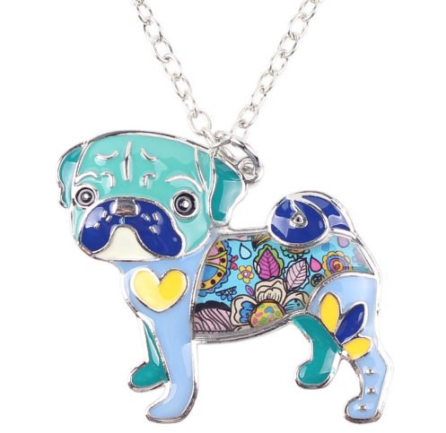 Gorgeous necklace in the form of a dog with beautiful colors