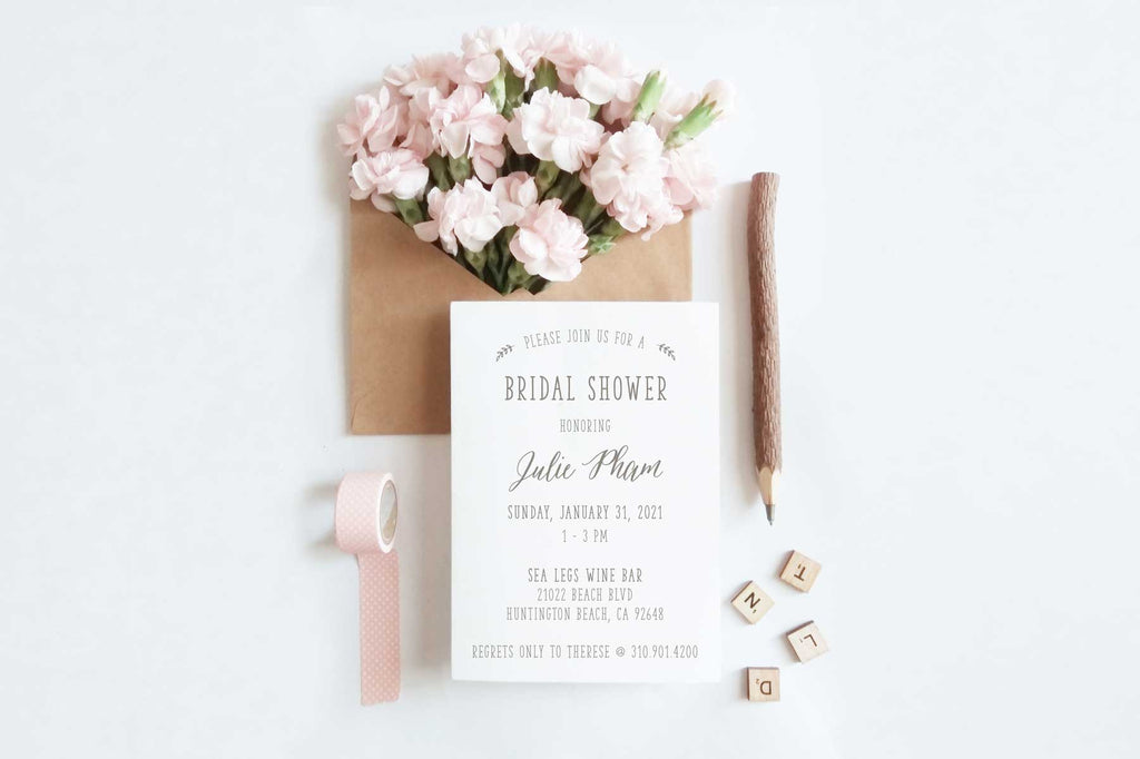 Rustic Branches Bridal Shower Invitation