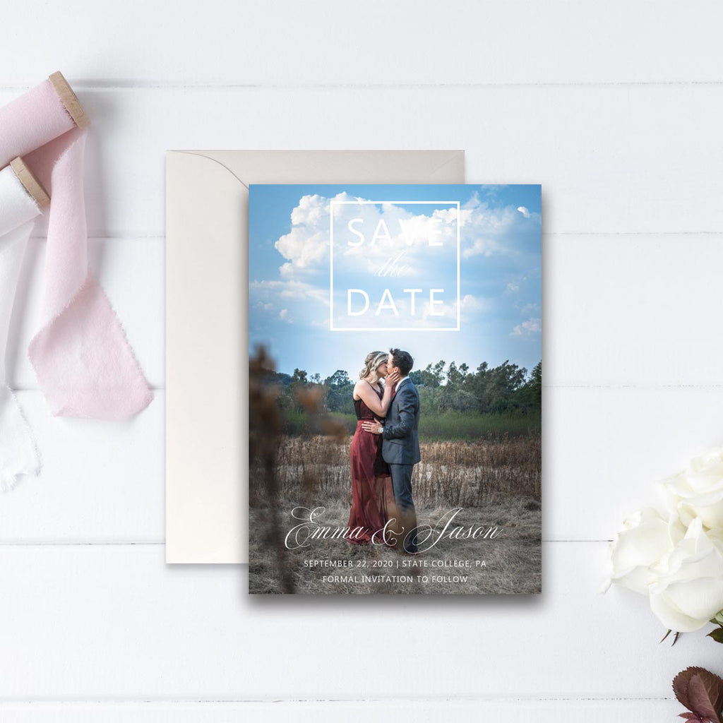 Boxed Save the Date Photo Card