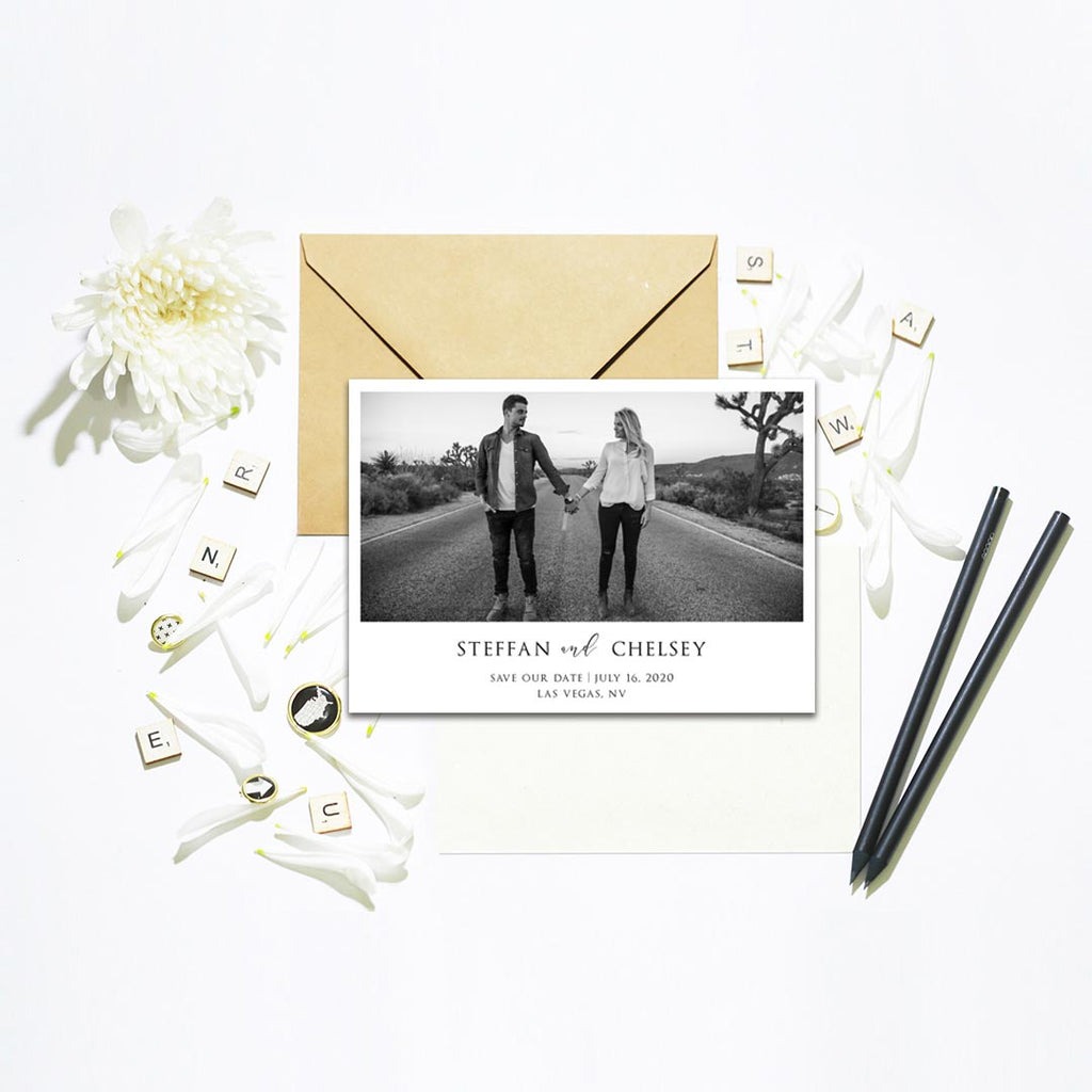 Simply Save the Date Photo Card